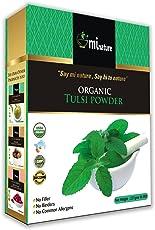 USDA Certified Organic Tulsi Leaves Powder (Ocimum Sanctum) by mi Nature - 227 g/8 OZ/1/2 lb | USDA NOP Certified 100% Organic | Vegan | Non GMO
