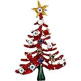 EVER FAITH Spilla Gioiello, Cristallo Austriaco Inverno Smalto Giallo Stella Albero di Natale Spilla Pin
