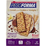 Pesoforma Barrette Cereali Croccanti, Cookies e Vaniglia, 12 x 31g