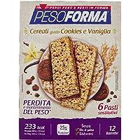 Pesoforma Barrette Cereali Croccanti  Cookies e Vaniglia   Pasti sostitutivi dimagranti SOLO 233 Kcal  Ricco in proteine   6 pasti