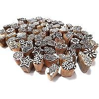 Saliha Art & Handicrafts Assorted Wooden Printing Block Stamp for Hand Carved Printing Stamp Block for Mehandi/Textile…