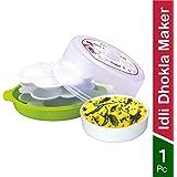 Wonder Healthy Idli Dhokla Maker Combo for Microwave, Big Idli Steamer, 1 Pc, Green Color