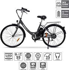 Nilox E Bike X5, Bicicletta Elettrica a Pedalata Assistita, ruote 26'', Nero