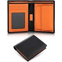 TEEHON® Portafoglio uomo slim rifd blocking con 5 porta carte di credito, 1 porta carte con linguetta, tasca portamonete…