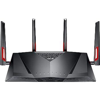 Asus DSL-AC88U Modem Router Gigabit Dual-Band Wi-Fi AC3100, 4 Antenne Esterne, G.Fast/Vplus 35b/VDSL/Fibra/ADSL 2, USB 3.0, Velocità AC3100