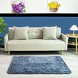 QUANHAO Supermjuk plyschmatta, modern fluffig inomhusmatta, halkfri, tjock, lämplig för heminredning, dagismatta, barnmatta (