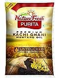 Nature Fresh Purita Premium Kachi Ghani Mustard Oil, 1l Pouch