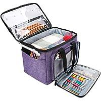 ProCase Sac Tricot Rangement pour Le Stockage des Laines, Crochets, Aiguilles et Accessoires, Organisateur avec…