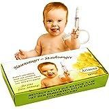 Baby Vac®. Originele neuszuiger voor baby's. Met 2 zuigkoppen en inbegrepen met gratis reinigingsborstel - klinisch geteste n