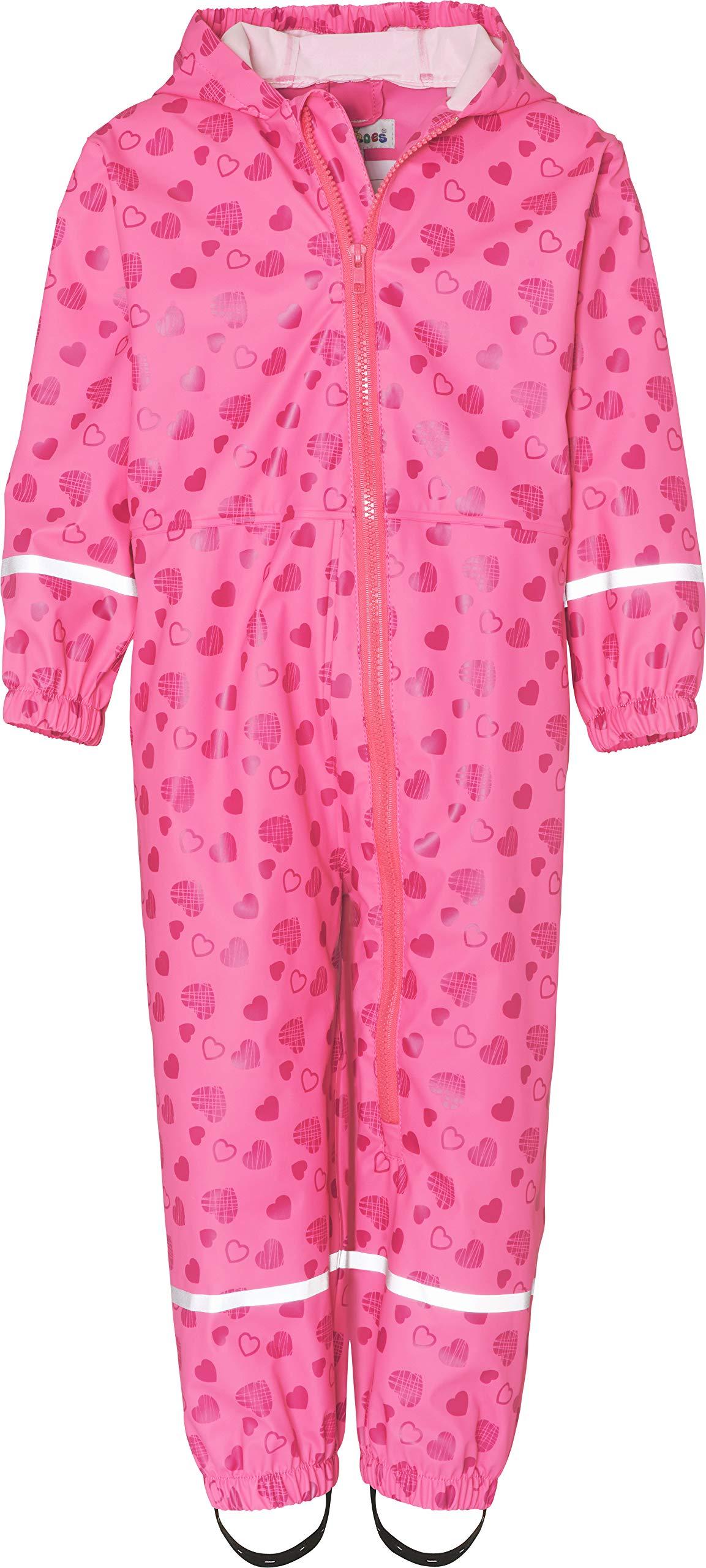 Playshoes Regen-Overall Herzchen Allover Pantalones Impermeable para Bebés 1