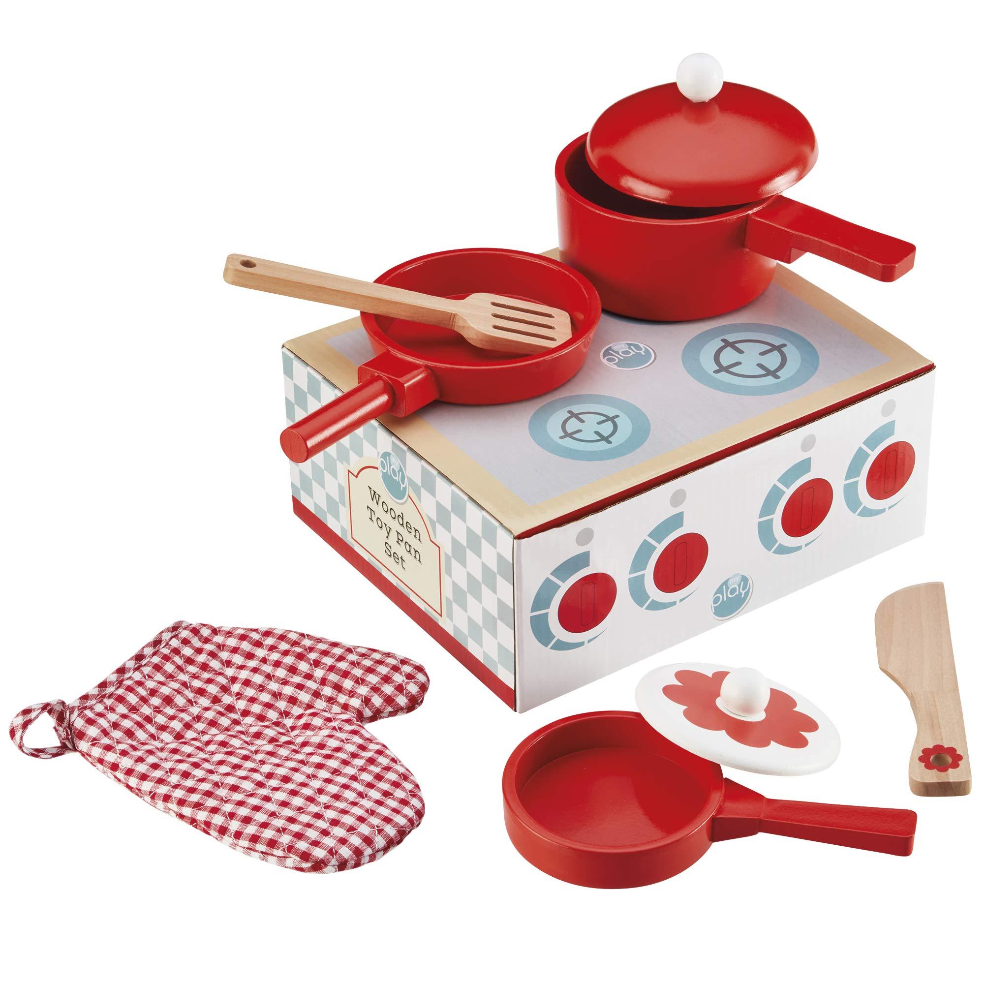 My Play Cucina in Legno Giochi per Bambini Set da Gioco con pentole ...