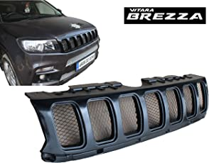 Saiga Parts Saiga Car Jeep Compass Style PU Coated Paint Finish Front Grill for Suzuki Brezza