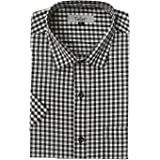 Twist Mens Italian Cotton Checkered Half Sleeve Shirt