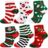 Fascigirl Calcetines de Navidad 6 Pares Calcetines Navidad Mujer Calcetines Termicos Mujer Invierno Calcetines Señora Navidad