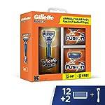 Gillette Fusion Annual Value Pack: 1 Fusion Razor Hand, 12 + 2 Fusion Razor Blades