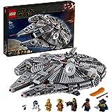 LEGO StarWars MillenniumFalcon, Set di Costruzioni dell'Iconica Astronave,conFinn,Chewbacca,LandoCalrissian,Boolio,C