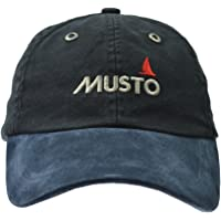 Musto Evo Original Crew Cap Hat Black - Unisex - Peaked to shield your eyes from the sun - 100% cotton - Adjustable fit