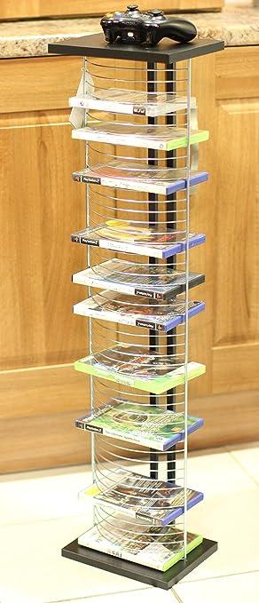 New Wall Mountable DVD Rack Black Amazoncouk Electronics