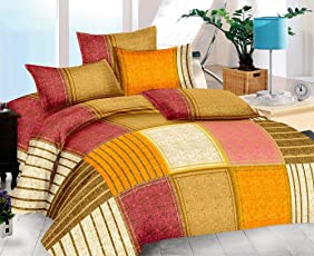 The Intellect Bazaar 152 TC Cotton King Bedsheet with 2 Pillow Covers (90*108 inches)