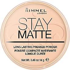 Rimmel London Stay Matte Pressed Powder, Warm Beige, 14g