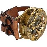 "Reloj de Sol Brazalete Gusti Cuero studio""Dennis"" Steampunk Pulsera de Cuero de Búfalo Manilla Accesorio Moda Retro Unisex 2A"