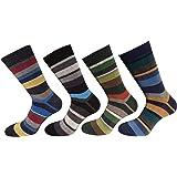 CriCri Socks 4 Paia Calze Corte Uomo in Caldo Cotone Alta Qualità Made in Italy - Taglia Unica