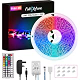 LED Strip Lights, Fulighture 5M/16.4ft RGB SMD 5050 Colour Changing LED Rope Lighting Kit, with 44key Remote Control and Powe