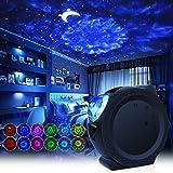 Lampe Projecteur LED Étoile, Projecteur de Veilleuse avec Ocean Wave Moon et Star Night Light Galaxy, projecteur de nuit étoi