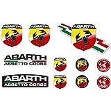 Sticker Adesivo Sticker Adesivo Adesivo Decals Autocollants Compatibile con Abarth Vinile Laminato Auto Ref 1