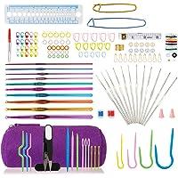 LIHAO 140pcs Tricot Crochet Laine Accessoires Trousse Complete 22pcs Aiguille à Crochet Tricoter Débutant Loisirs…