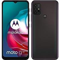 """Motorola moto g30 (6,5""""-Display, 64-MP-Kamera, 4/128 GB, 5000 mAh, Dual-SIM, Android 11) Dark Pearl, inkl. Schutzcover…"""