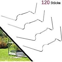 120 Stück ✔ Gewächshaus Klammern,Y&J ✔ Extra Thick(1.6mm) ✔ Anti-Rost ROSTFREIER Edelstahl Gewächshausklammern für Gewächshaus & Glashaus Hohlkammerstegplatten (120 Stück Super-Wert-Paket)