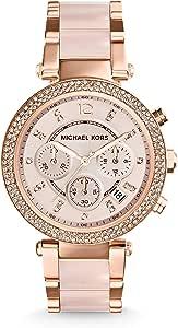 Michael Kors Orologio Cronografo Quarzo Donna con Cinturino in Acciaio Inossidabile MK5353