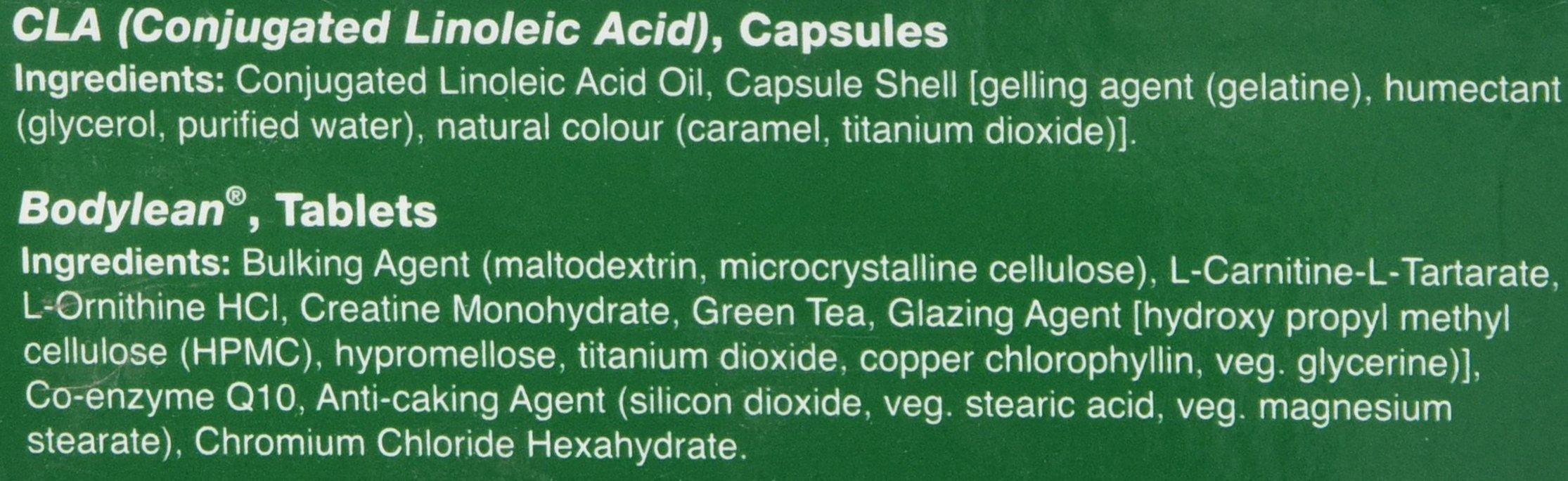 HealthAid Bodylean CLA Plus – (Conjugated Linoleic Acid, Co Q10, Green Tea) – 30 Capsules and 30 Tablets