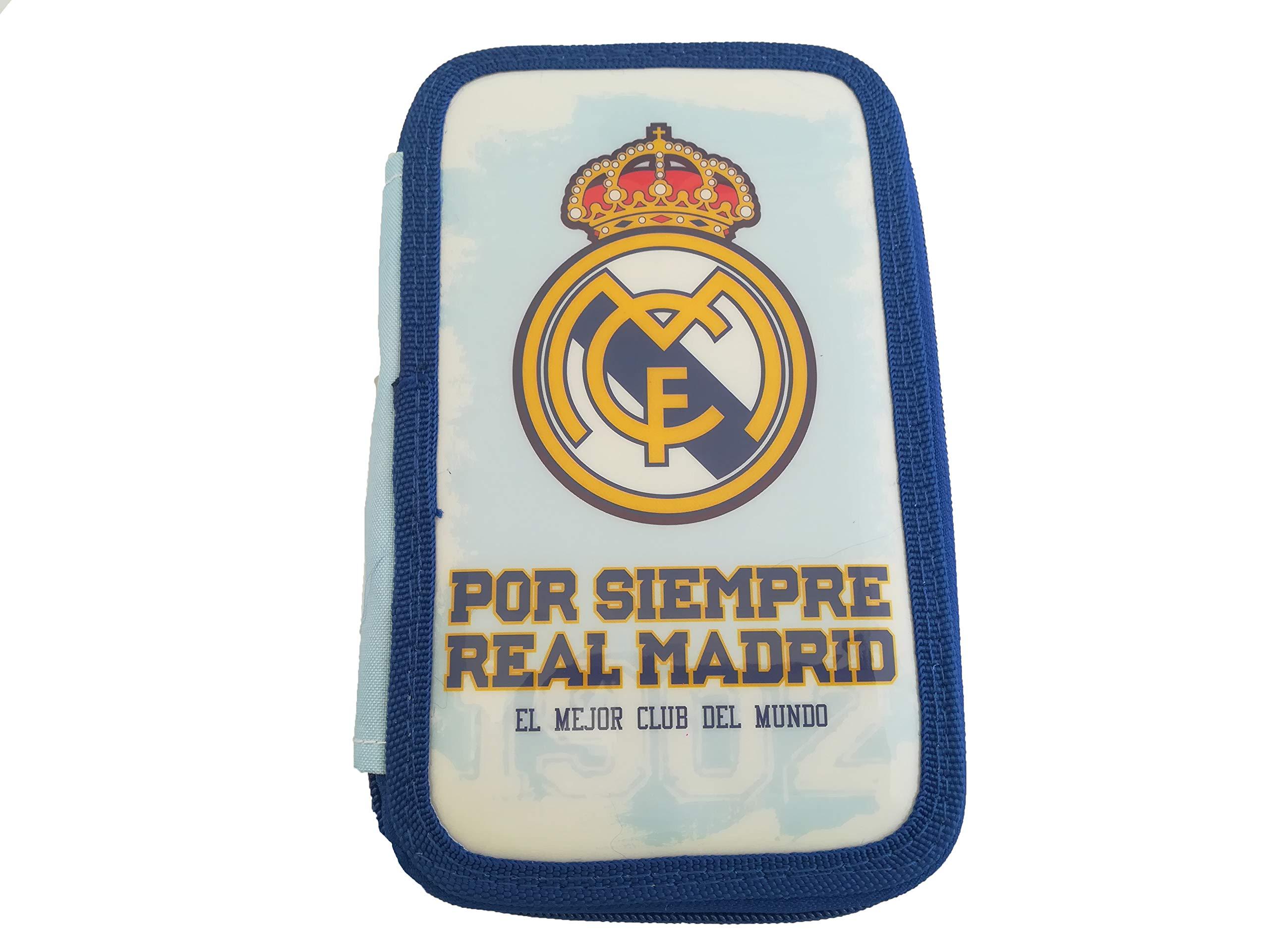 LCQI Plumier Triple Real Madrid Estuche Producto Oficial Escolar Regalo