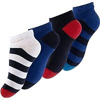 Cotton Prime 8 paia di Calze corti a righe in cotone multicolore per ragazzi