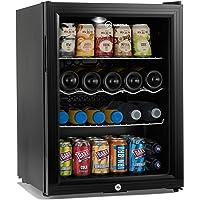 Subcold Super65 LED - Table-Top Fridge   65L Beer, Wine & Drinks Fridge   LED Light + Lock & Key   Low Energy A++ (Black)
