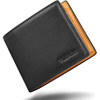 TEEHON® Portafoglio Uomo Vera Pelle Blocco RFID, con 17 Porta Carte di Credito, Tasca Portamonete, 2 Scomparti Banconote…