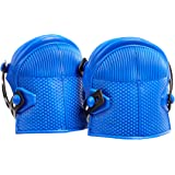 AmazonCommercial Non-Marring Rubber Cap Knee Pads, 24.7 cm, Blue, 1 pair