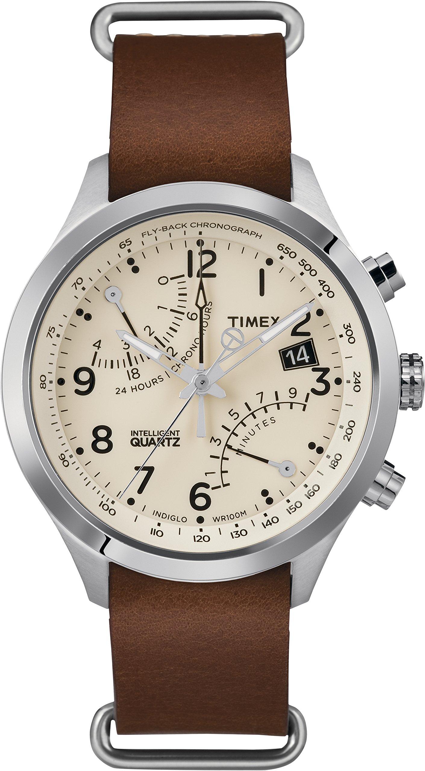 Timex Reloj Analógico para Hombre de Cuarzo con Correa en Cuero TW2R55100