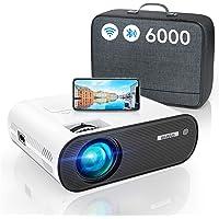 Vidéoprojecteur WiFi Bluetooth, 6000 Lumens WiMiUS Vidéoprojecteur WiFi Portable Full HD Supporte 1080P Mini Projecteur…