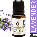 Anveya Bulgarian Lavender Essential Oil, 100% Natural & Pure, 15ml, for Hair, Skin, Face, Relaxing Sleep & Aroma Diffuser