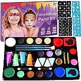 Becoyou Pintura Facia, 14 Colores Pintura Facial Niños Pintura Facial para Disfraces Pintura Facial Profesional Cosplay Maqui