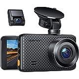 APEMAN 1440P&1080P Dashcam vorne und hinten, Maximal 1520P, 128 GB Unterstützung, 170° Dashcam Autokamera mit 3 Zoll IPS-Bild