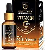 Honest Choice Vitamin C Serum with Hyaluronic acid, Aleo Vera, and Vitamin E/Anti Aging Face Serum/Skin Brightening and…