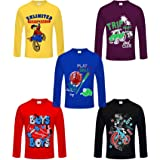 Kiddeo Boys' T-Shirt (Pack of 5)