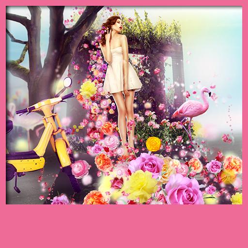 Fantasie-Blumen-Live-Tapeten -
