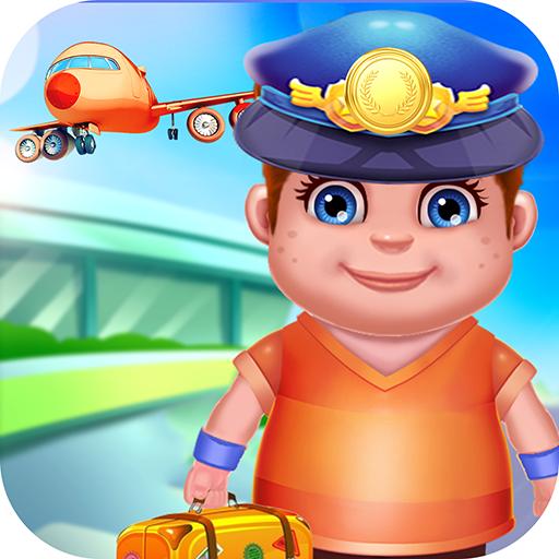 Flughafen Flugzeuge Spiel - Überprüfen Sie Pass, Gepäck, Flugzeug und seien Sie der Pilot mit diesem lustigen freien Spiel! (Software überprüfen)