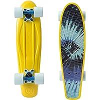 Kryptonics sk1516227522,5Pouces Drop Through Skateboard Complet avec roulements ABEC 1, Chaussures de Skateboard–Skateboard Classic Torpedo (Tiedye)