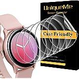 UniqueMe [4-pack] Skärmskydd för Samsung Galaxy Watch Active 2/4 40 mm, [Flexibel film] mjuk HD TPU klar anti-repor skärmskyd